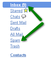 screenshot of google inbox and trash - by http://www.chinavasion.com/