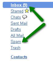 screenshot of google inbox and trash - by http://www.chinavasion.com/